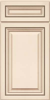 Square Raised Panel - Solid (ALM) Maple in Canvas w/Cocoa Glaze - Base