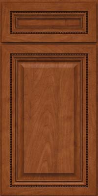 Square Raised Panel - Solid (ALM) Maple in Chestnut - Base