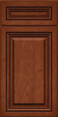 Square Raised Panel - Solid (ALM) Maple in Chestnut w/Onyx Glaze - Base