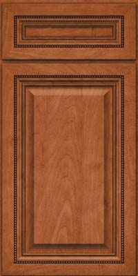 Square Raised Panel - Solid (ALM) Maple in Cinnamon - Base