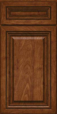 Square Raised Panel - Solid (ALM) Maple in Cognac - Base
