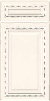 Square Raised Panel - Solid (ALM) Maple in Dove White - Base