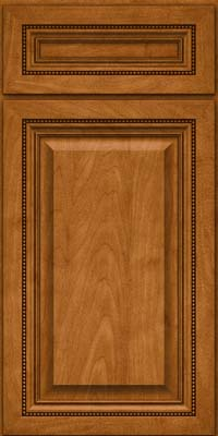 Square Raised Panel - Solid (ALM) Maple in Golden Lager - Base
