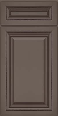 Square Raised Panel - Solid (ALM) Maple in Greyloft w/ Sable Glaze - Base