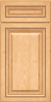 Square Raised Panel - Solid (ALM) Maple in Honey Spice - Base