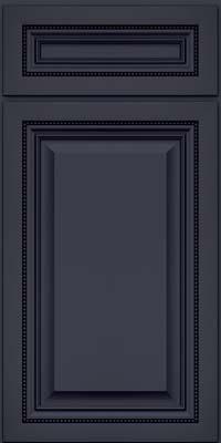 Square Raised Panel - Solid (ALM) Maple in Midnight w/ Onyx Glaze - Base