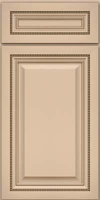 Square Raised Panel - Solid (ALM) Maple in Mushroom w/Cocoa Glaze - Base