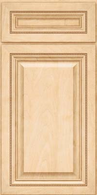 Square Raised Panel - Solid (ALM) Maple in Natural - Base