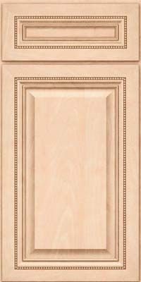 Square Raised Panel - Solid (ALM) Maple in Parchment - Base