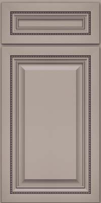 Square Raised Panel - Solid (ALM) Maple in Pebble Grey - Base