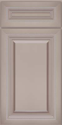 Square Raised Panel - Solid (ALM) Maple in Pebble Grey w/ Coconut Glaze - Base