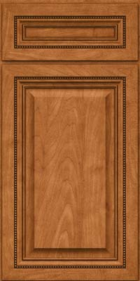 Square Raised Panel - Solid (ALM) Maple in Praline w/Mocha Highlight - Base