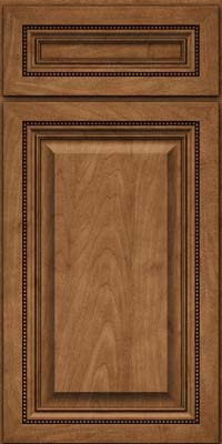 Square Raised Panel - Solid (ALM) Maple in Rye - Base