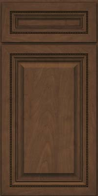Square Raised Panel - Solid (ALM) Maple in Saddle Suede - Base