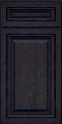 Square Raised Panel - Solid (ALM) Maple in Slate - Base