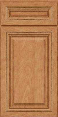 Square Raised Panel - Solid (ALM) Maple in Toffee - Base