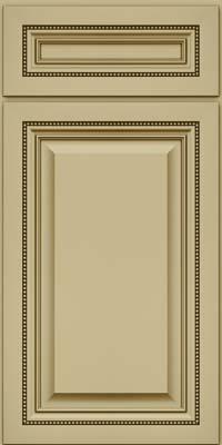 Square Raised Panel - Solid (ALM) Maple in Willow w/Cocoa Glaze - Base