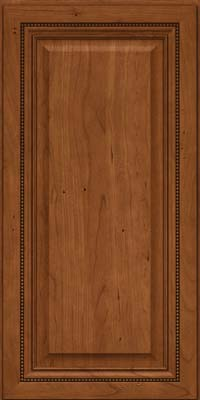 Square Raised Panel - Solid (ALC) Cherry in Antique Chocolate w/Mocha Glaze - Wall