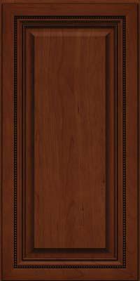 Square Raised Panel - Solid (ALC) Cherry in Autumn Blush w/Onyx Glaze - Wall