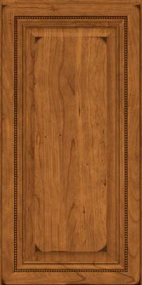 Square Raised Panel - Solid (ALC) Cherry in Burnished Golden Lager - Wall