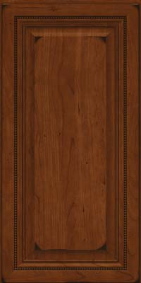 Square Raised Panel - Solid (ALC) Cherry in Burnished Autumn Blush - Wall