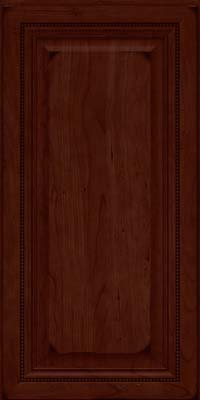 Square Raised Panel - Solid (ALC) Cherry in Burnished Cabernet - Wall