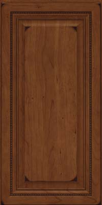 Square Raised Panel - Solid (ALC) Cherry in Burnished Chocolate - Wall