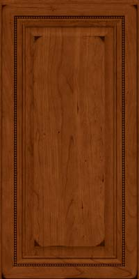 Square Raised Panel - Solid (ALC) Cherry in Burnished Cinnamon - Wall