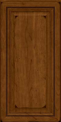Square Raised Panel - Solid (ALC) Cherry in Burnished Ginger - Wall