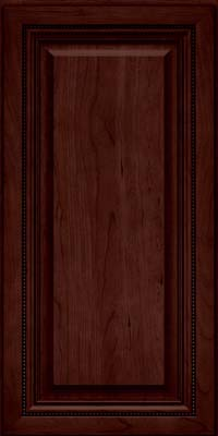 Square Raised Panel - Solid (ALC) Cherry in Cabernet - Wall