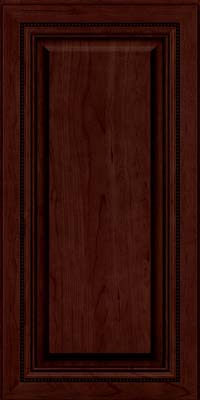 Square Raised Panel - Solid (ALC) Cherry in Cabernet w/Onyx Glaze - Wall