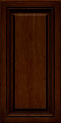 Square Raised Panel - Solid (ALC) Cherry in Chocolate w/Ebony Glaze - Wall