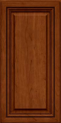 Square Raised Panel - Solid (ALC) Cherry in Cinnamon w/Onyx Glaze - Wall