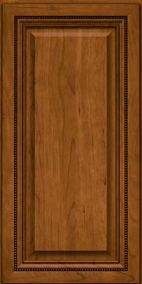 Square Raised Panel - Solid (ALC) Cherry in Golden Lager - Wall