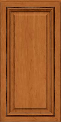 Square Raised Panel - Solid (ALC) Cherry in Honey Spice - Wall