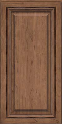 Square Raised Panel - Solid (ALC) Cherry in Husk Suede - Wall