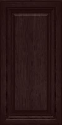 Square Raised Panel - Solid (ALC) Cherry in Peppercorn - Wall