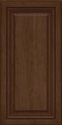 Square Raised Panel - Solid (ALC) Cherry in Saddle Suede - Wall