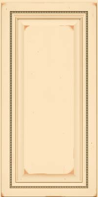 Square Raised Panel - Solid (ALC) Cherry in Vintage Biscotti w/Cocoa Patina - Wall