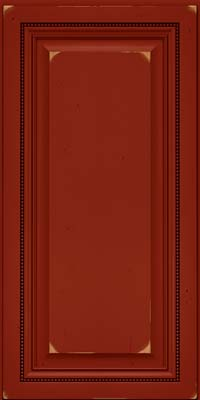 Square Raised Panel - Solid (ALC) Cherry in Vintage Cardinal - Wall