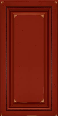 Square Raised Panel - Solid (ALC) Cherry in Vintage Cardinal w/Onyx Patina - Wall