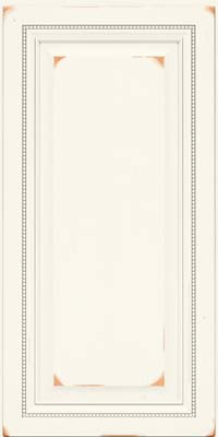 Square Raised Panel - Solid (ALC) Cherry in Vintage Dove White - Wall
