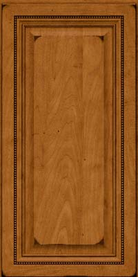 Square Raised Panel - Solid (ALM) Maple in Burnished Golden Lager - Wall