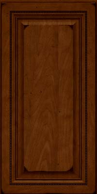 Square Raised Panel - Solid (ALM) Maple in Burnished Chestnut - Wall