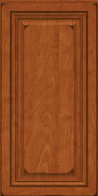 Square Raised Panel - Solid (ALM) Maple in Burnished Cinnamon - Wall