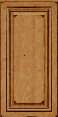 Square Raised Panel - Solid (ALM) Maple in Burnished Ginger - Wall