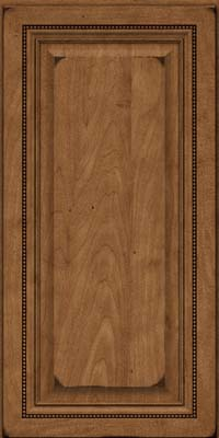 Square Raised Panel - Solid (ALM) Maple in Burnished Rye - Wall