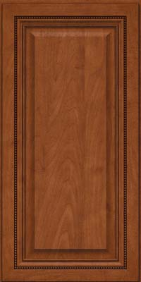 Square Raised Panel - Solid (ALM) Maple in Chestnut - Wall