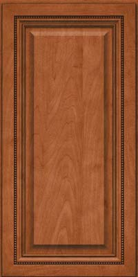 Square Raised Panel - Solid (ALM) Maple in Cinnamon - Wall