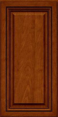 Square Raised Panel - Solid (ALM) Maple in Cinnamon w/Onyx Glaze - Wall